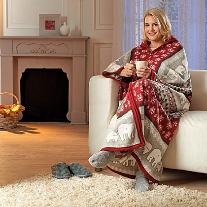 Red Fleece Cosy-Robe
