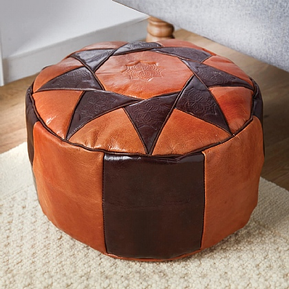 Leather Pouffe