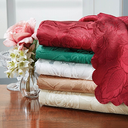Damask Rose Table Cloths