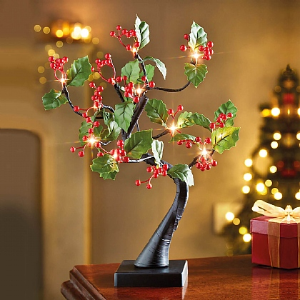LED Holly Tree