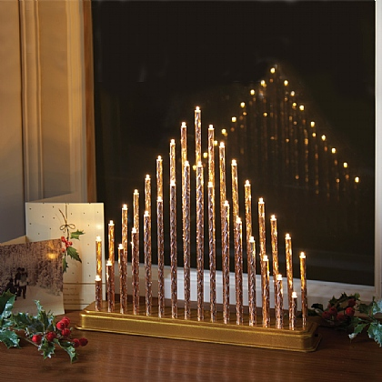 Gold LED Candle Arch