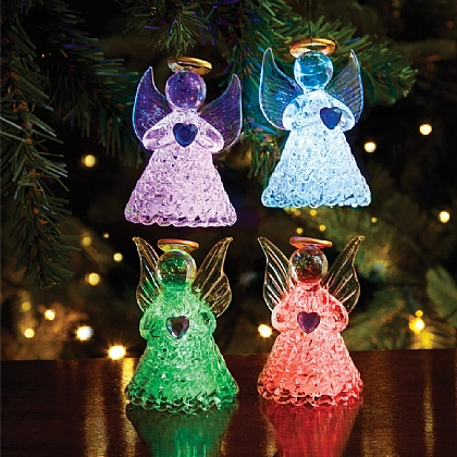 Set of 4 LED Hanging Angels