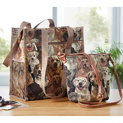 Dog Printed Tapestry Bags