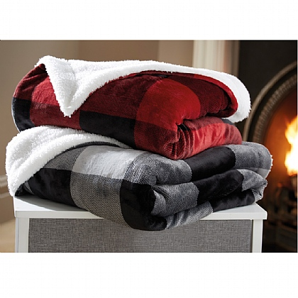 Pack of 2 Fleece Throws