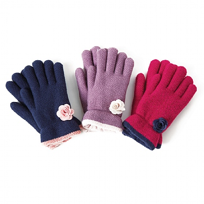 Rose Winter Gloves - Buy 2 Get 1 Free