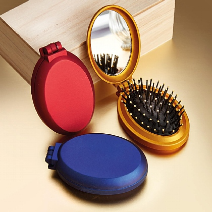 Set of 3 Hairbrush & Mirror Compacts
