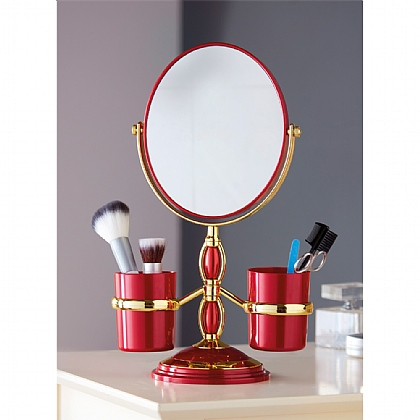 Red Make-Up Mirror