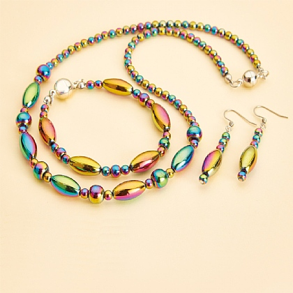 Rainbow Hematite Jewellery - Buy All 3 & Save £5