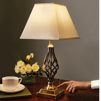 Barley Twist Touch Lamp With Bulb