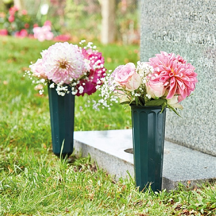 Set of 2 Memorial Flower Vases