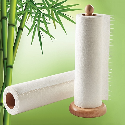 Pack of 2 Bamboo Kitchen Towel Rolls