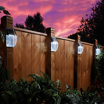 Set of 2 Glass Effect Solar Lights - Buy 2 Sets & Save £5
