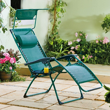 Deluxe Reclining Garden Chair