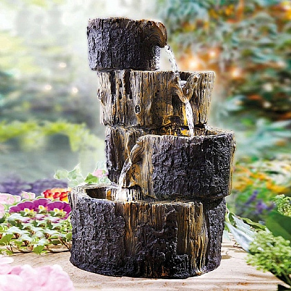 Solar Log Water Fountain