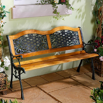 Wood and Resin Garden Bench