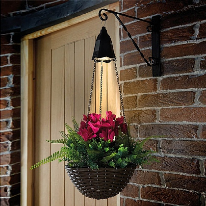 Pack of 2 Solar Hanging Basket Lights