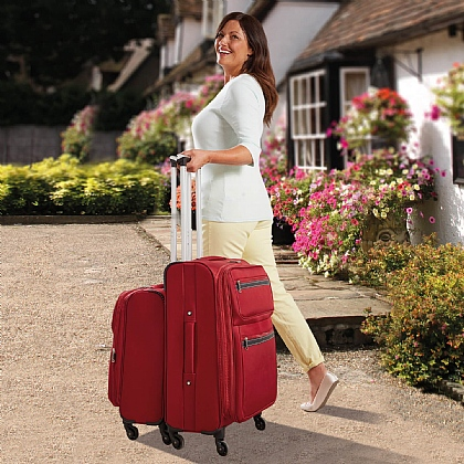 Red Lightweight Nested Suitcases