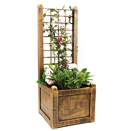 Bronze Trellis Planter