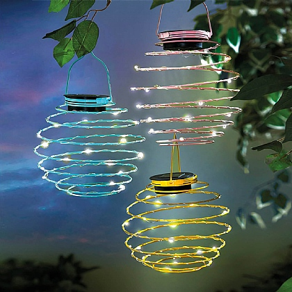 Set of 3 Spiral Solar Lights
