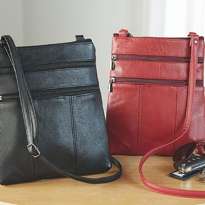 Leather RFID Crossbody Bags - Buy 1 Get 1 Free
