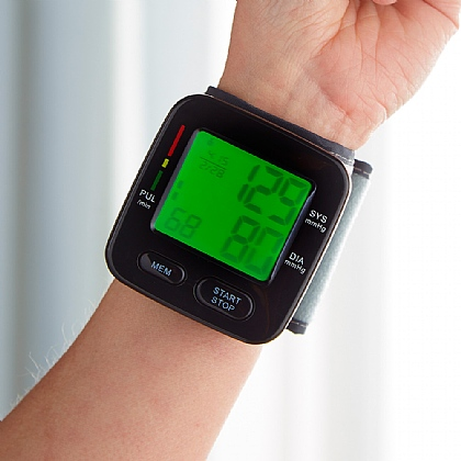 Black Wrist Blood Pressure Monitor