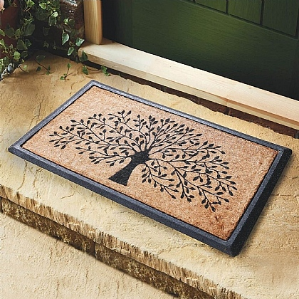 Tree of Life Coir Mat