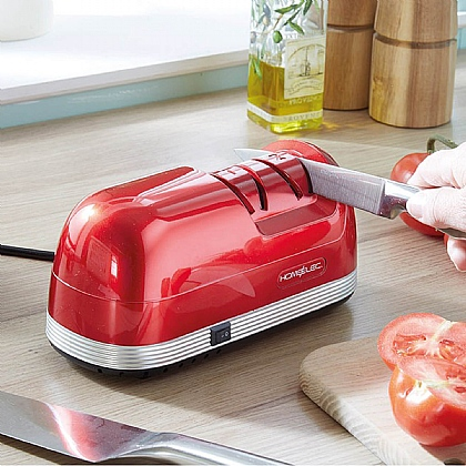 Red Comfort Grip Knife Sharpener