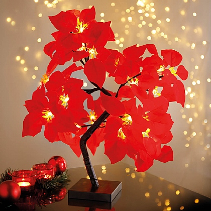 LED Poinsettia Tree Light