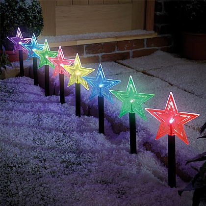 Set of 8 Star Path Lights - Buy 1 Get 1 Free