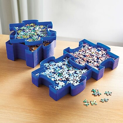 Set of 6 Puzzle Sorter Trays