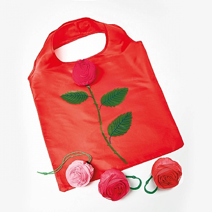 Set of 3 Rose Shopping Bags