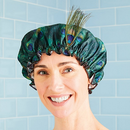 Peacock Shower Hat