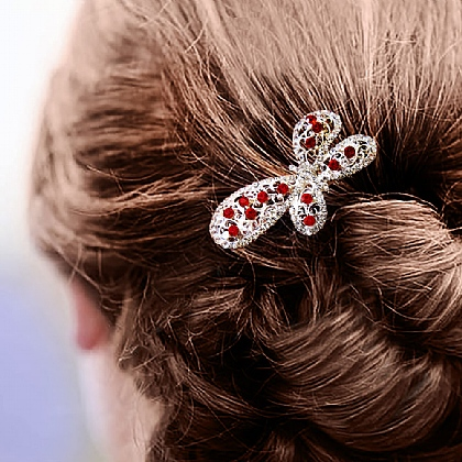 Set of 3 Jewelled Hair Combs
