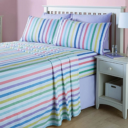 Candy Stripe Flannelette Sheets