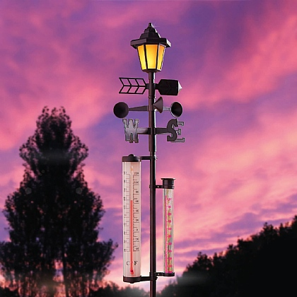 Weather Station with Solar Light