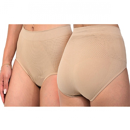 Pack of 2 Beige Control Briefs - Buy 2 & Save £10