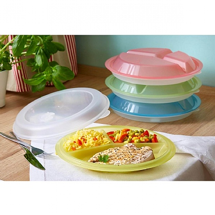 Pack of 4 Divided Meal Plates - Buy 2 & Save £3