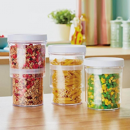 Set of 3 Vacuum Food Containers