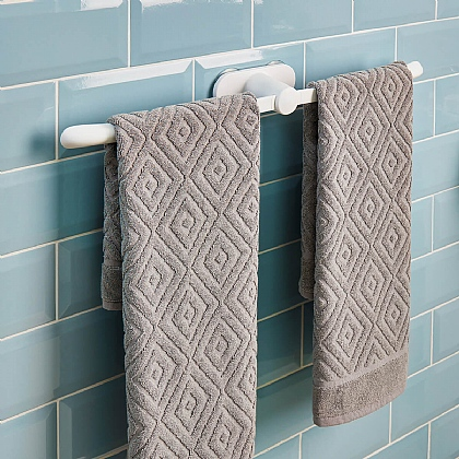 Pack of 2 Suction Towel Rails