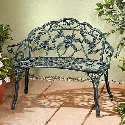 Curved Rose Design Bench