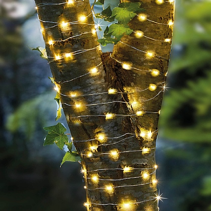 200 LED Copper Firefly Solar Lights - Buy 2 & Save £5