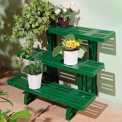 Green Plastic Plant Stand - Buy 2 & Save £5