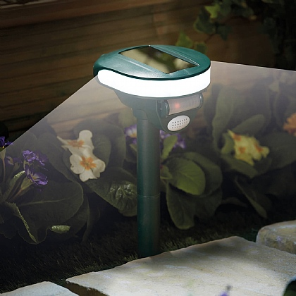 Solar Animal Repeller with Motion Light