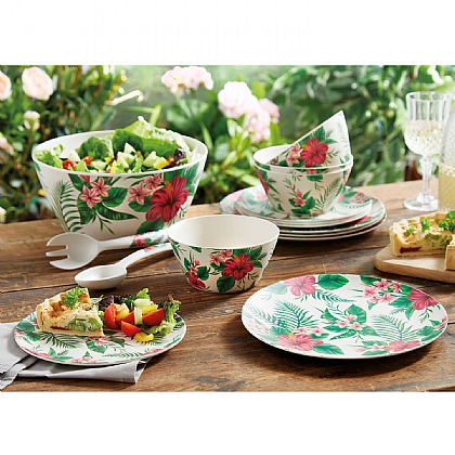 Floral Outdoor Tableware - Buy the Set & Get the Salad Bowl Free