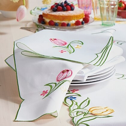 Spring Floral Table Runner/Napkins - Buy Both & Save £5