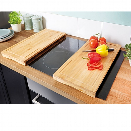 Set of 2 Bamboo Hob Covers