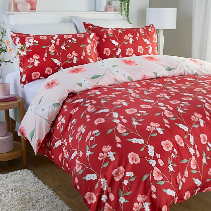Reversible Poppy Duvet Set