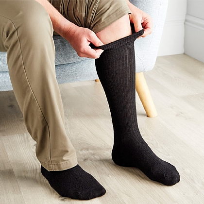 Extra-Long Merino Wool Socks - Buy 2 Pairs & Save £3