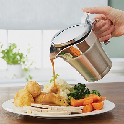 500ml Double Wall Stainless Steel Gravy/Sauce Jug