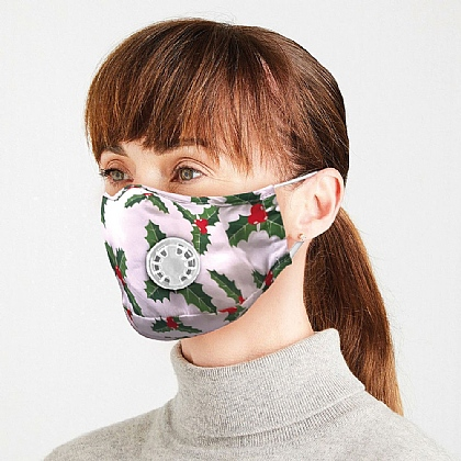 Pack of 2 Christmas Face Masks with 5x Filters